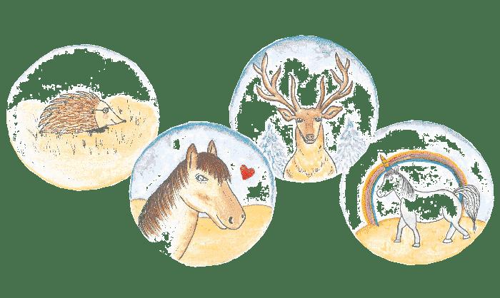 Typenmodell einheimischer Tiere